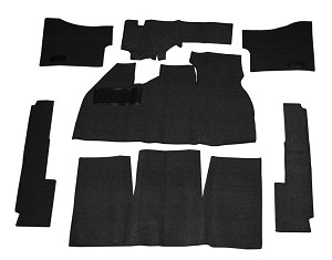 CARPET KIT 58-68 7PC. BLK