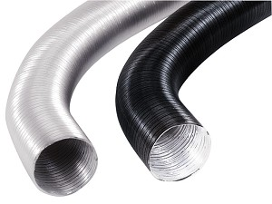 BLACK ALUMINUM HOSE, 50MM