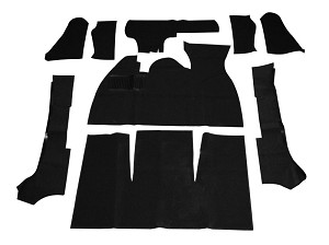 CARPET KIT 71-72 9PC. BLK