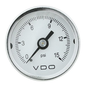 MINI PSI GAUGE, 0-15, WHITE