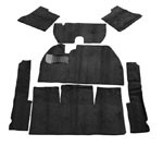 CARPET KIT 58-68 7PC. BLK W/O Foot Rest