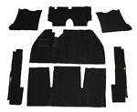 CARPET KIT 69-72 7PC. BLK