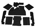 CARPET KIT 73-77 9PC. BLK