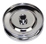 12 VOLT GEN PULLEY CHROMED