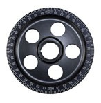 STK.SIZE BLK ANODIZED PULLEY