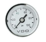 MINI PSI GAUGE, 0-100, WHITE