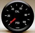 gauge oil pressure gauge in black, VDO packaged 2 1/16