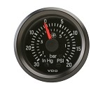 TURBO GAUGE, 0-30IN/0-20 PSI